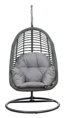 Emerald Home San Marino Hanging Basket Chair-w/cushion Spuncrylic Sketch Grey Ou1060-2-09-23-k
