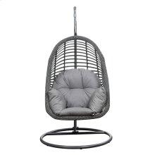 Emerald Home San Marino Hanging Basket Chair-w/cushion Spuncrylic Sketch Grey Ou1060-2-09-23-k