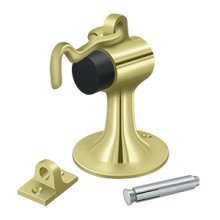Cement Floor Mount Bumper w/ Holder, Solid Brass - Polished Brass