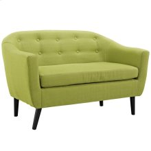 Wit Upholstered Fabric Loveseat in Wheatgrass
