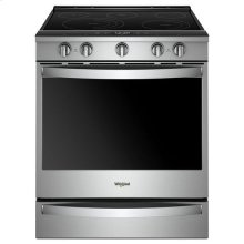 Whirlpool® 6.4 Cu. Ft. Smart Slide-in Electric Range with Frozen Bake Technology - Fingerprint Resistant Stainless Steel