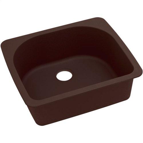 "Elkay Quartz Classic 25"" x 22"" x 8-1/2"", Single Bowl Drop-in Sink, Pecan"