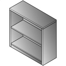 Bookcase 2-shelf, 30wx12dx29h,