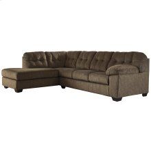 Signature Design by Ashley Accrington 2-Piece Right Side Facing Sofa Sectional in Earth Microfiber [FSD-1339SEC-2RAFS-ERT-GG]