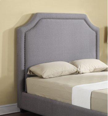Headboard 6/6 Upholstered Grey Product Image