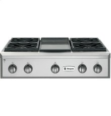 "GE Monogram® 36"" Professional Gas Rangetop with 4 Burners and Griddle (Liquid Propane)"