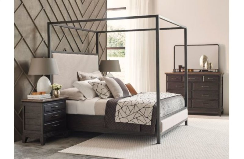 Shelley Canopy Cal King Bed Complete
