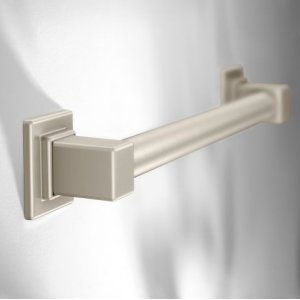 "90 Degree brushed nickel 18"" designer grab bar"