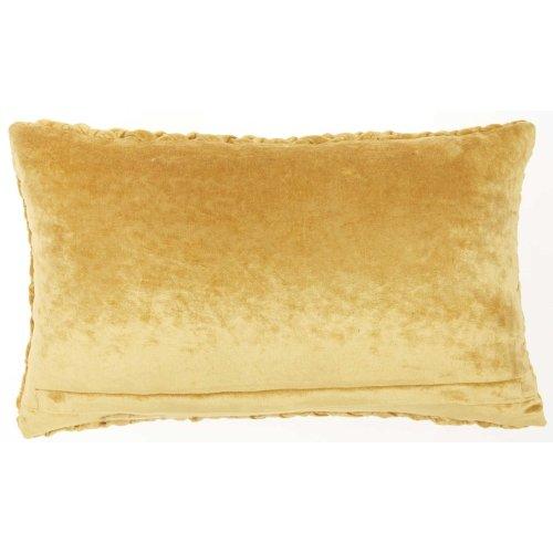 "Life Styles Ac234 Gold 12"" X 20"" Throw Pillow"
