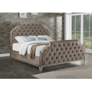 FlexsteelVogue Queen Fully Upholstered Bed
