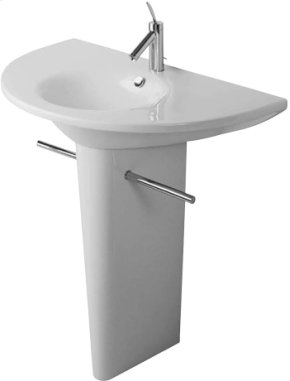 "White Washbasin Set, 35 3/8"" Inch, 3 Tap Holes Punched"