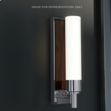 "Decorative Glass 3-1/8"" X 11-5/8"" X 3-13/16"" Sconce In Brushed Nickel With Tinted Gray Mirror Glass Insert"