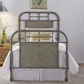 Twin Metal Bed - Green