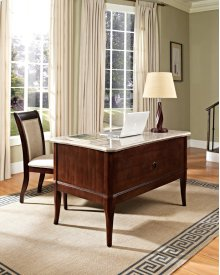 """Marseille Marble Top Writing Desk, 52"""" x 30"""" x 31"""""""