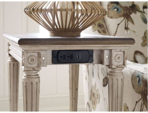 Charging Chairside Table
