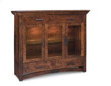 B&O Railroade Trestle Bridge 3-Door Dining Cabinet