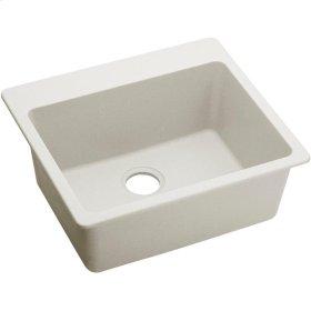"Elkay Quartz Luxe 25"" x 22"" x 9-1/2"", Single Bowl Top Mount Sink, Ricotta"