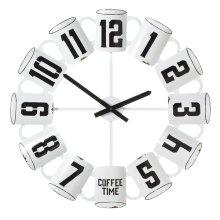 Enamel Coffee Cup Wall Clock