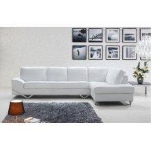 Divani Casa Vanity - Modern White Sectional