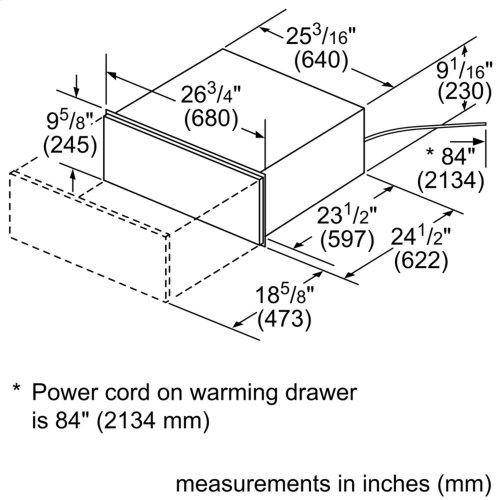 """500 Series, 27"""", Warming Drawer"""