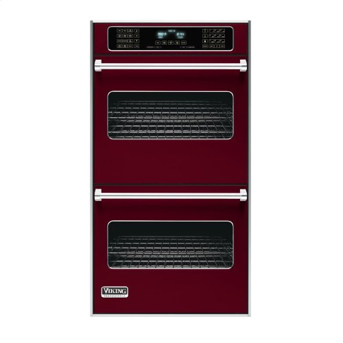 """Burgundy 27"""" Double Electric Touch Control Premiere Oven - VEDO (27"""" Wide Double Electric Touch Control Premiere Oven)"""