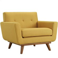 Engage Upholstered Fabric Armchair in Citrus