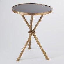 Twig Table-Brass/Black Granite
