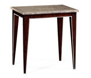Black Eucalyptus Rectangular End Table