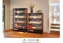 "55"" Bookcase with 3 shelves & Casters**"