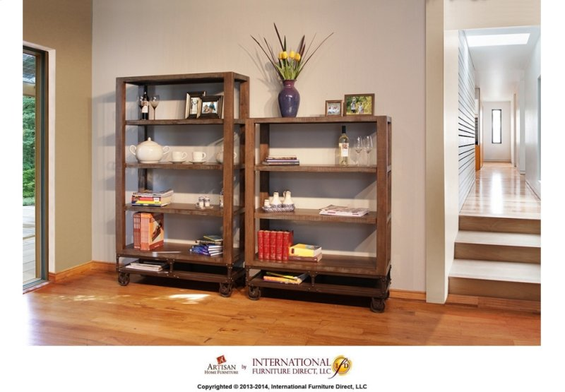 70 Bookcase With 4 Shelves Casters