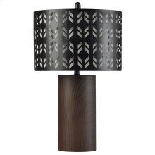 BK314763  Berkley  Bryan Keith Branded  Metal Table Lamp  150W  3-Way  Lazer Cut Metal Layered Shade