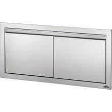 "36"" X 16"" Small Double Door , Stainless Steel"