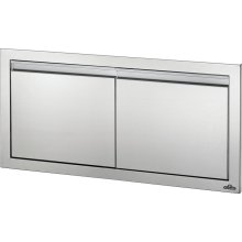 "36"" X 16"" Small Double Door , Stainless Steel"