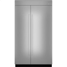 "48""(w) Fully Integrated Built-In Side by Side Refrigerator Panel Kit., Euro-Style Stainless Handle"