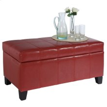 Bella Storage Ottoman in Red