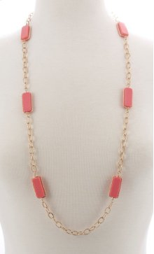 BTQ Faceted Red Stone Necklace