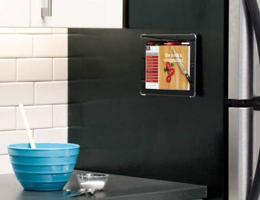 Additional Silver IPad® Mount For Under Cabinet, On Wall Or Magnetic Surface