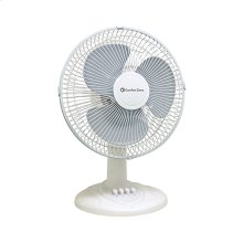 CZ121 12-inch Oscillating Table Fan, White