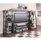 Contemporary Matte Black TV Console Product Image
