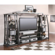 Contemporary Matte Black TV Console