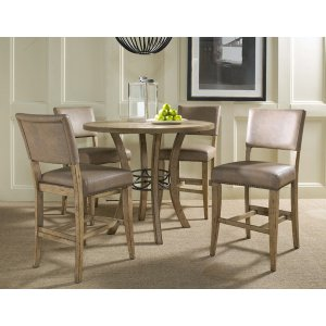 Hillsdale FurnitureCharleston 5pc Counter Height Round Wood Dining Set With Parson Stools