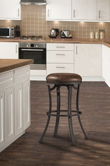 Kelford Backless Counter Stool - Textured Black