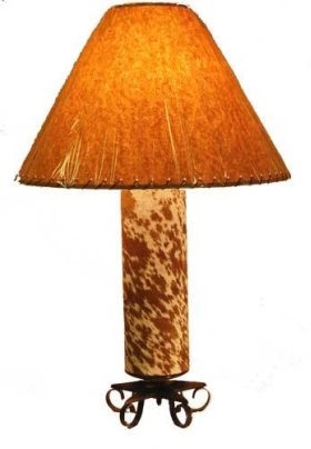 Cowhide Lamp