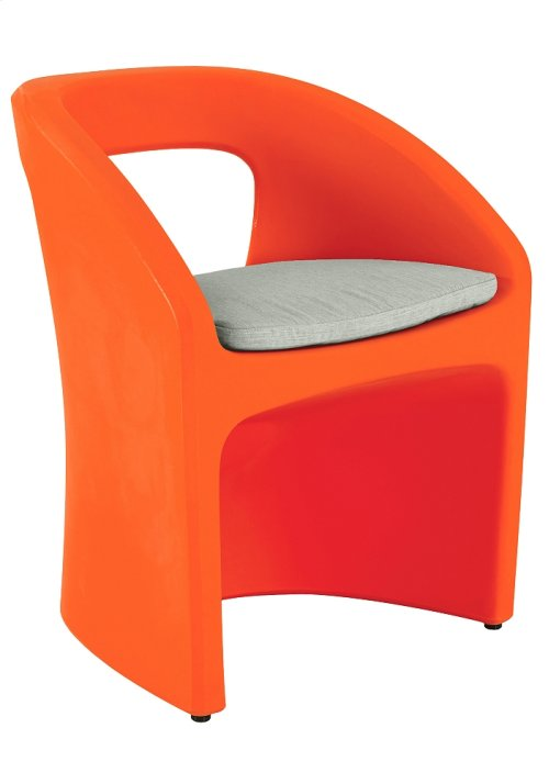 Radius Dining Chair with Seat Pad & Weight