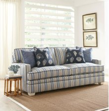 Kensington Track Arm, Boxed Back Pillow, Tapered Leg Sofa