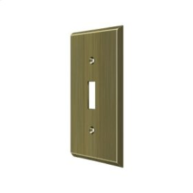 Switch Plate, Single Standard - Antique Brass