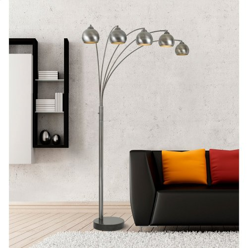 60W X 5 Light Metal Arc Floor Lamp