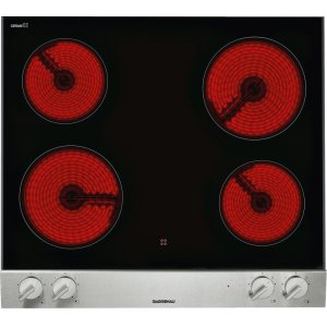 "GaggenauVario 200 Series Electric Cooktop Stainless Steel Control Panel Width 24"" (60 Cm)"