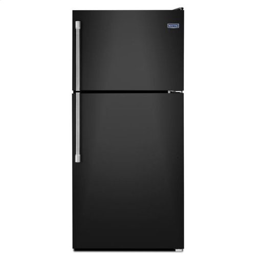 Maytag® 30-inch Wide Top Freezer Refrigerator with EvenAir Cooling Tower - 18 cu. ft. - Black