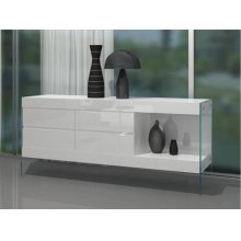 Modrest Aura - Modern Floating White Buffet